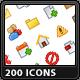 200 Mini Icons - GraphicRiver Item for Sale