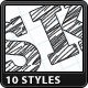 Sketch Text Styles - GraphicRiver Item for Sale