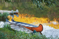 Colorful Kayaks on the river. - PhotoDune Item for Sale