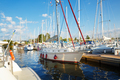 Moored sailing yacht in France harbor - PhotoDune Item for Sale