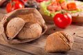 Multigrain bread with slices of smoked salmon, chile pepper and tomatoes - PhotoDune Item for Sale