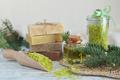 Natural sea salt and handmade soap branch of pine - PhotoDune Item for Sale