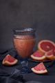 Glass of freshly squeezed grapefruit juice. - PhotoDune Item for Sale