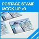 Postage Stamp Mock-up v3 - GraphicRiver Item for Sale