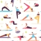 Yoga People Seamless Pattern - GraphicRiver Item for Sale