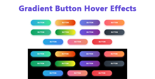 Gradient Button Hover Effects