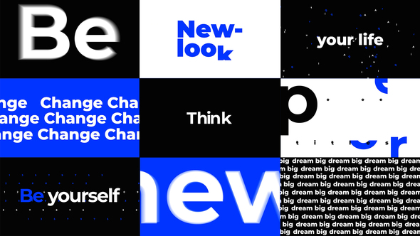 Typography Titles