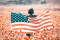 USA citizen with american flag. 4th of July. Freedom. Independence Day. Memorial day. - PhotoDune Item for Sale