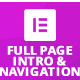 Full Page Intro And Navigation Addon for Elementor Page Builder - CodeCanyon Item for Sale