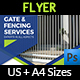 Fence and Gates Services Flyer Template - GraphicRiver Item for Sale