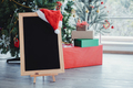 Blackboard for putting text decorated with Christmas themes. - PhotoDune Item for Sale