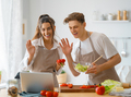 couple is preparing the proper meal - PhotoDune Item for Sale