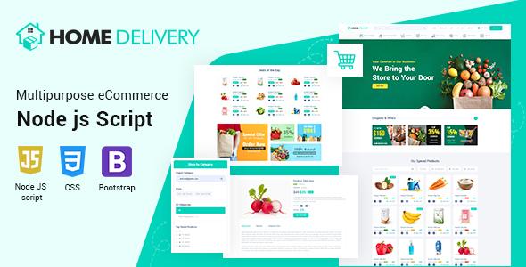 Home Delivery Ecommerce CMS Node JS Script