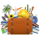 Vector Tourism Concept with Baggage - GraphicRiver Item for Sale