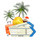 Vector Travel Concept with Tickets - GraphicRiver Item for Sale