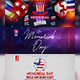 Memorial Day Wknd - Facebook Cover - GraphicRiver Item for Sale