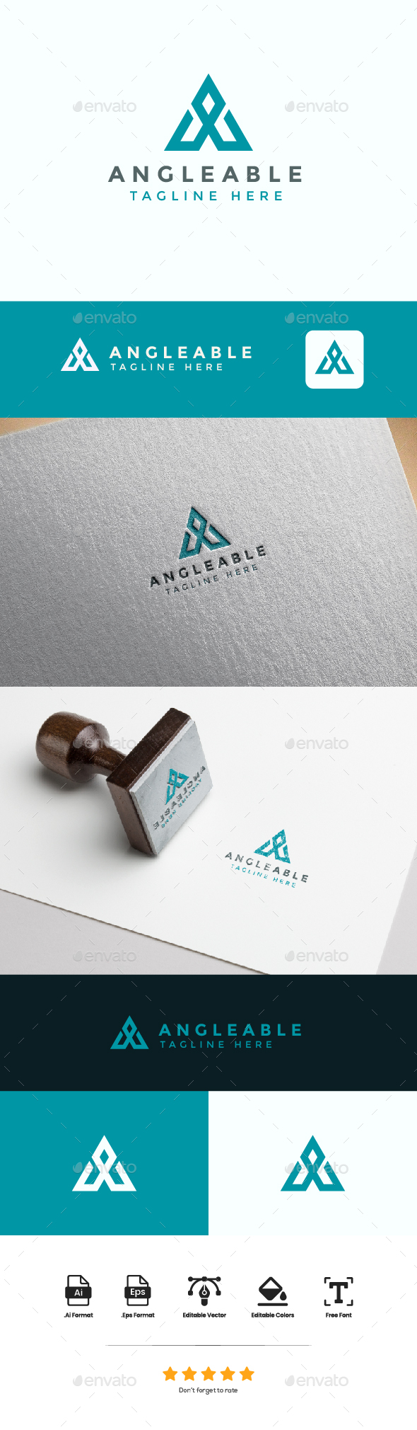 Logo Letter A - Angleable