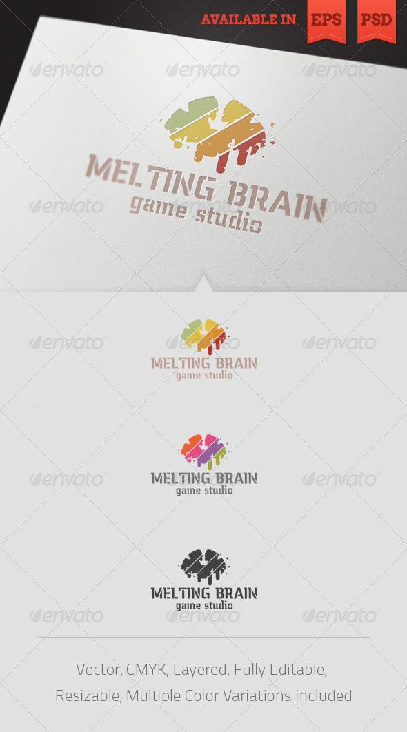 Melting Brain Logo Template