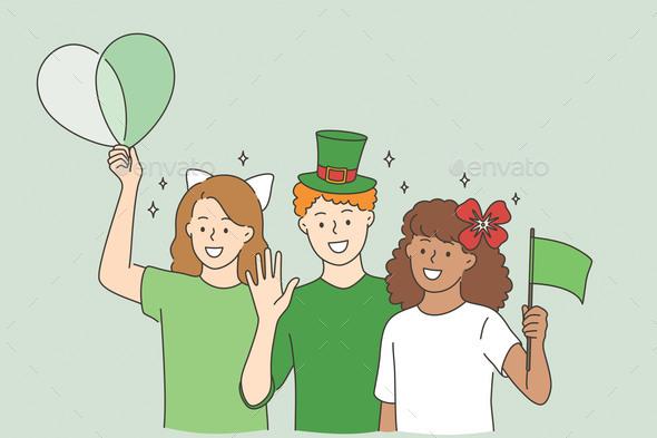 Celebrating Saint Patrick Day Concept