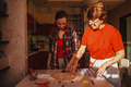 Young woman and senior mother cooking cookies. - PhotoDune Item for Sale