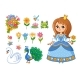 Cute Princess with a Flower in Her Hand - GraphicRiver Item for Sale