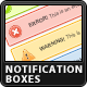 Clean Notification Boxes - GraphicRiver Item for Sale
