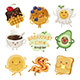 Breakfast Time Illustrations Set - GraphicRiver Item for Sale