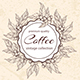 Round Floral Frame with Coffee Plants - GraphicRiver Item for Sale