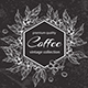 Vintage Coffee Plants Chalk Drawing - GraphicRiver Item for Sale