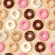 Vector Seamless Pattern with High Detailed Donuts - GraphicRiver Item for Sale