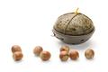 Hazelnuts and Candle, isolated on white background - PhotoDune Item for Sale