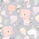 Seamless Pattern with Funny Little Animals - GraphicRiver Item for Sale