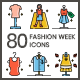 80 Fashion Week Icons   Aesthetics Series - GraphicRiver Item for Sale