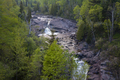 High angle view of waterfall and trees along north shore of Lake Superior in Minnesota - PhotoDune Item for Sale