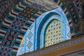 Muslim architecture. Dome of the Rock, Jerusalem. Mosaic tiles on the mosque - PhotoDune Item for Sale