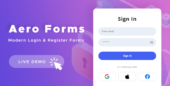 Aero Forms - Modern Login & Register Forms HTML Template