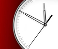 Wall Clock, isolated on red background - PhotoDune Item for Sale