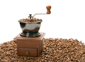 Old coffee grinder, isolated on white background - PhotoDune Item for Sale