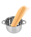 Spaghetti in a saucepan isolated on white background - PhotoDune Item for Sale
