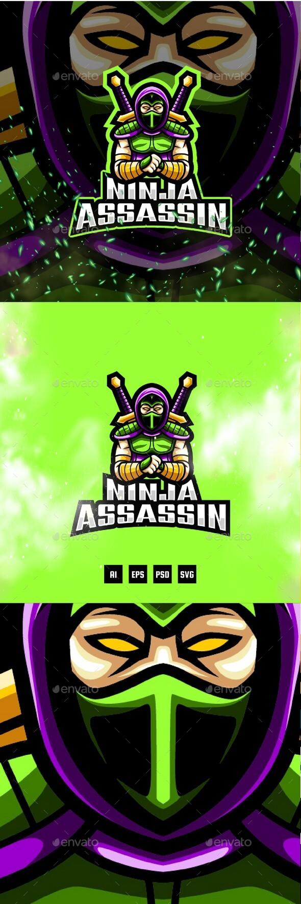 Ninja Assassin E-Sport and Sport Logo Template