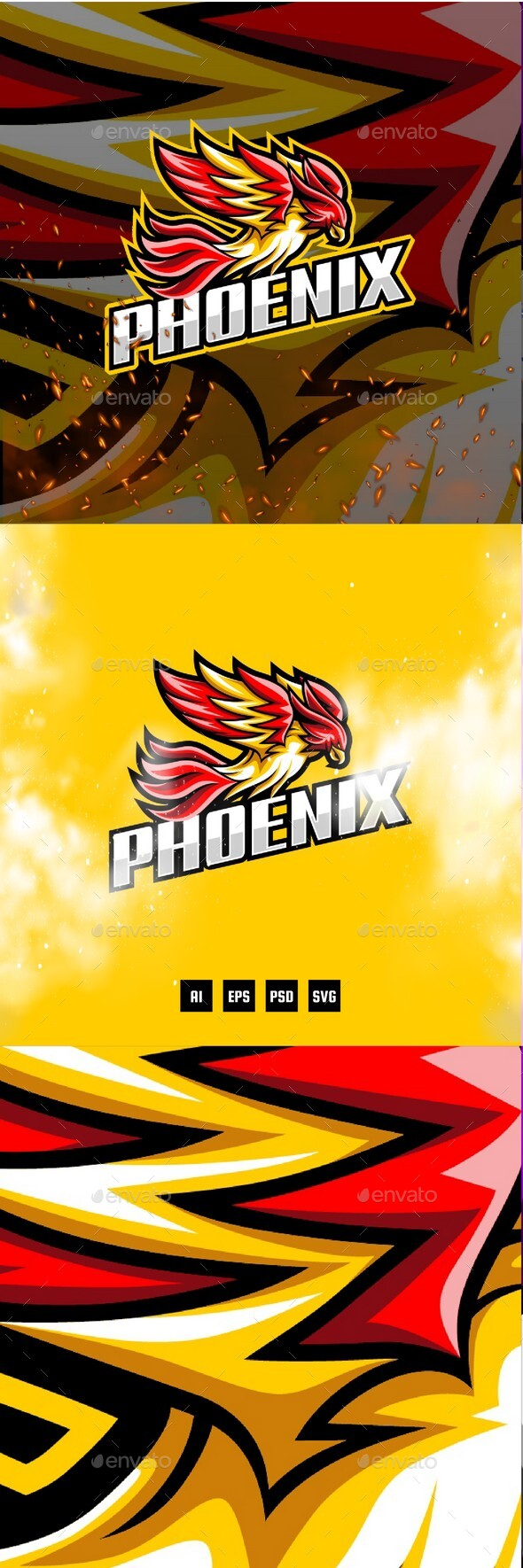 Phoenix E-Sport and Sport Logo Template