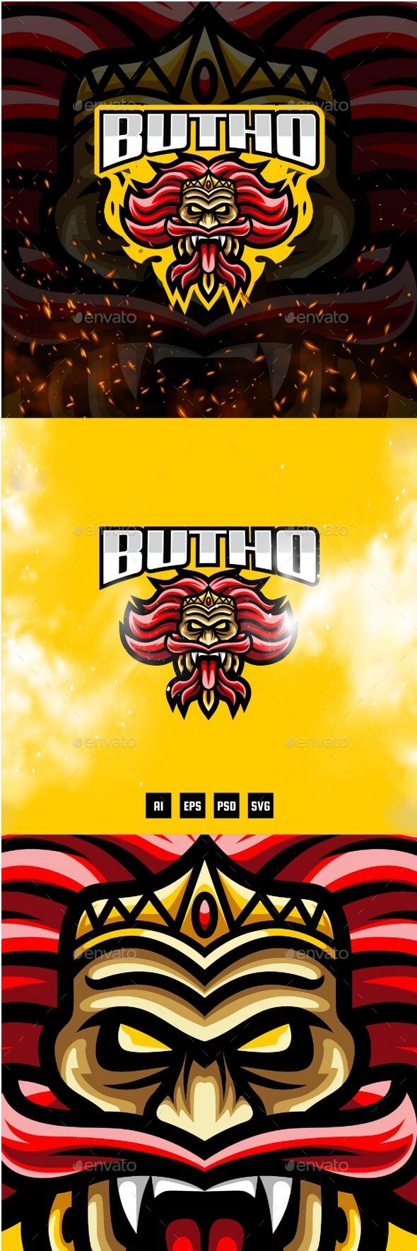 Butho E-Sport and Sport Logo Template
