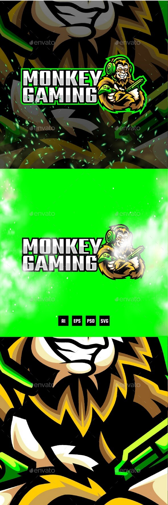 Monkey Gaming E-Sport and Sport Logo Template