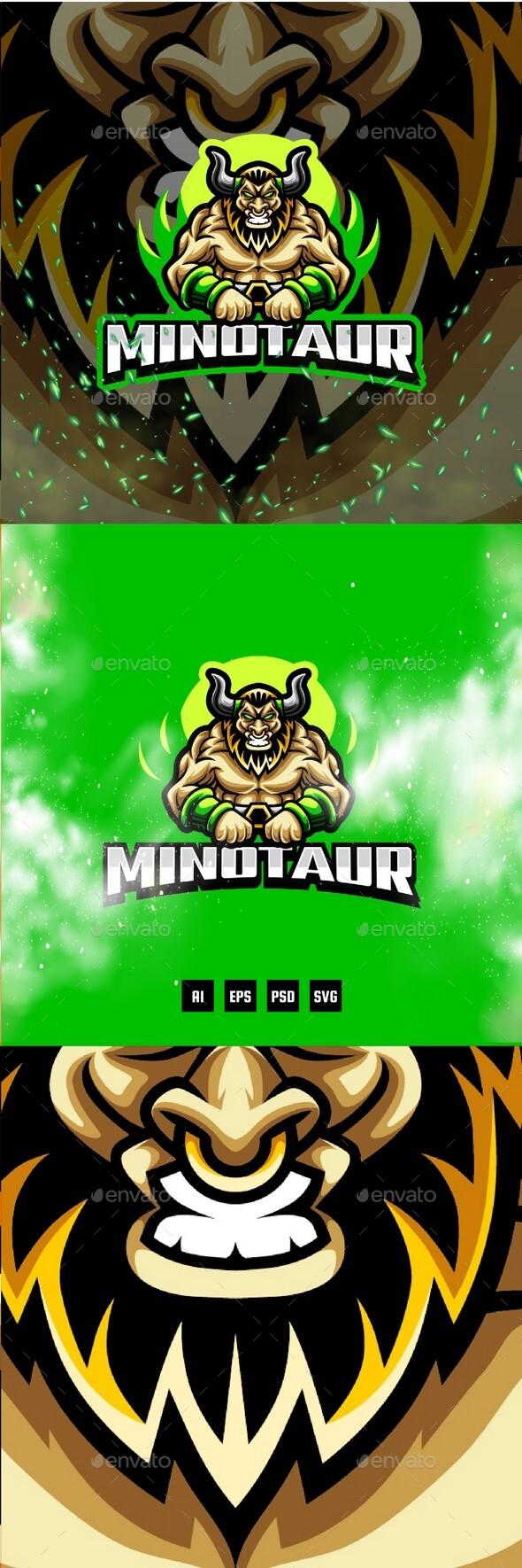 Minotaur E-Sport and Sport Logo Template