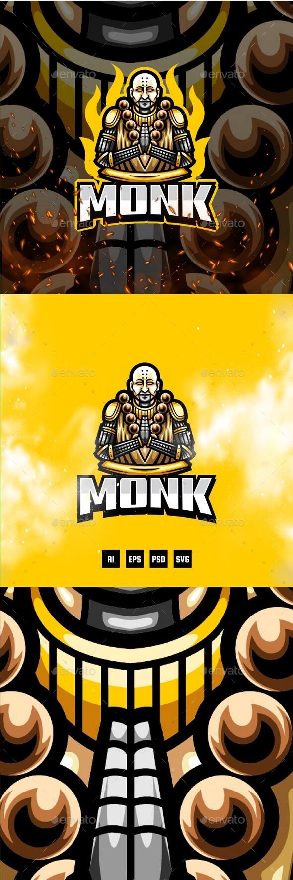 Monk E-Sport and Sport Logo Template
