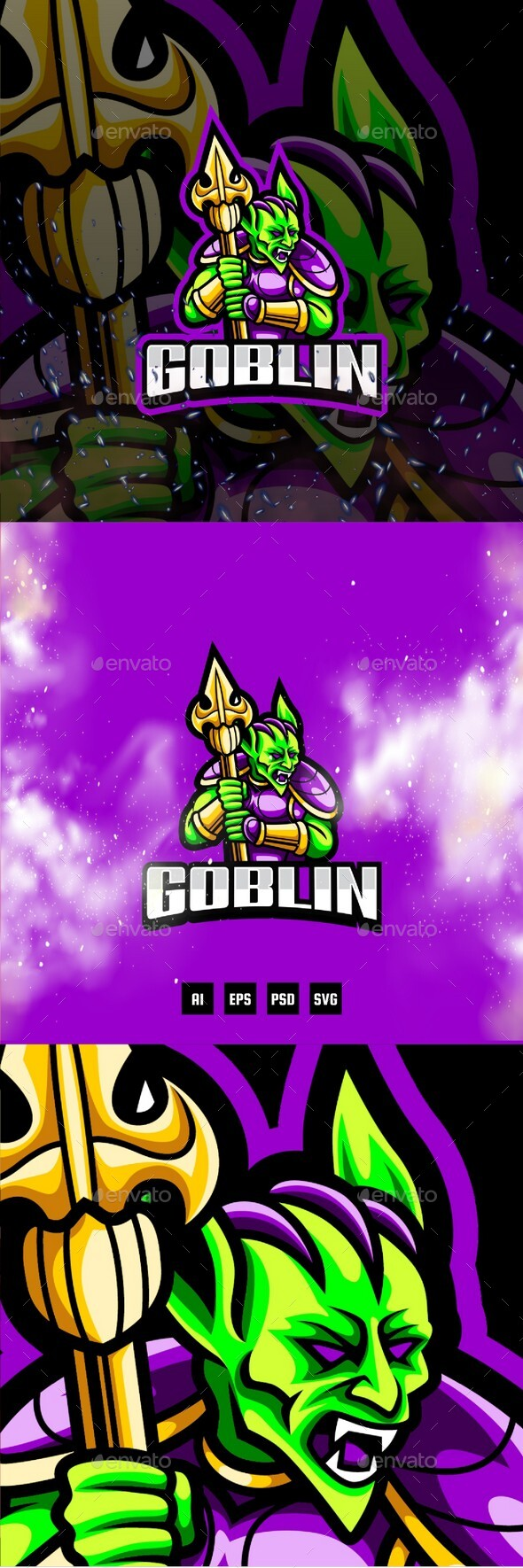 Goblin E-Sport and Sport Logo Template