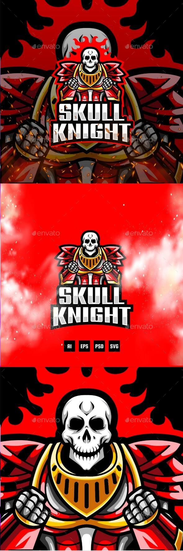 Skull Knight E-Sport and Sport Logo Template