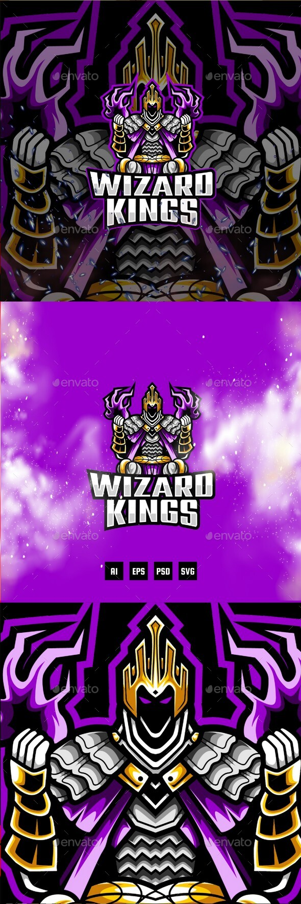Wizard Kings E-Sport and Sport Logo Template