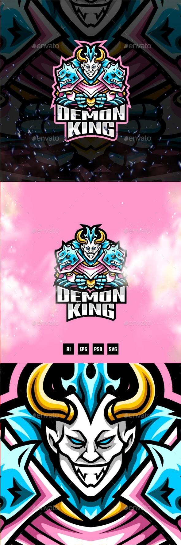 Demon King E-Sport and Sport Logo Template