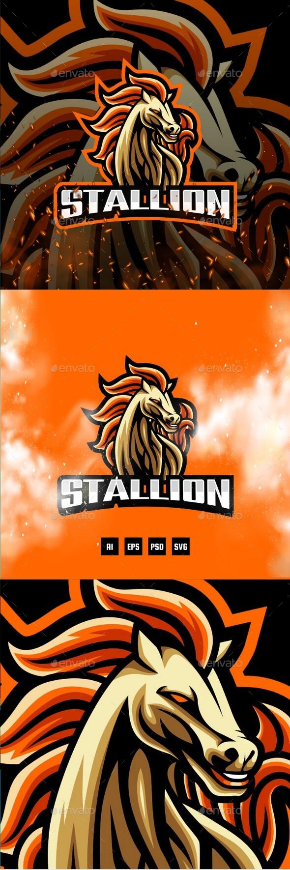 Stallion E-Sport and Sport Logo Template
